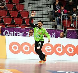 Primoz Prost #16 of Slovenia during handball match between National Teams of Slovenia and Spain at Day 9 of 24th Men's Handball World Championship Qatar 2015 on January 23, 2015 in Duhail Handball Sports Hall, Doha, Qatar. Photo by Slavko Kolar / Sportida