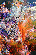 An explosion of bubbles and color in a fine art abstract done in micro photography.