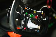 August 25-27, 2017: Lamborghini Super Trofeo at Virginia International Raceway. Steering wheel detail