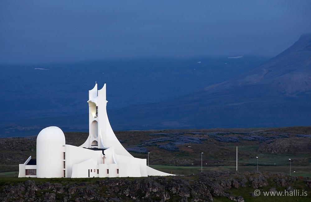 Church in Stykkisholmur, Snaefellsnes, Iceland - Kirkjan í Stykkishólmi