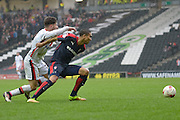 Rotherham Midfielder Jerome Thomas during the Sky Bet Championship match between Milton Keynes Dons and Rotherham United at stadium:mk, Milton Keynes, England on 9 April 2016. Photo by Dennis Goodwin.