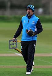 Somerset's Director of Cricket Matt Maynard - Photo mandatory by-line: Harry Trump/JMP - Mobile: 07966 386802 - 04/04/15 - SPORT - CRICKET - Pre Season - Day 3 - Somerset v Durham MCCU - Taunton Vale, Somerset, England.