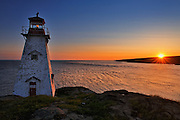 Boar's Head Lighthouse at sunrise<br /> Long Island of the Digby Neck<br /> Nova Scotia<br /> Canada