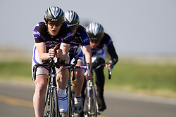 The Kansas State University team of Gerald Hart, Zach Dubas, Richard Shurtz, and Mark Smelser competes in the men's division 1 race.  The 2008 USA Cycling Collegiate National Championships Team Time Trial event was held near Wellington, CO on May 9, 2008.  Teams of 3 or 4 riders raced over a 20km out and back course that ran along a service road to Interstate 25.