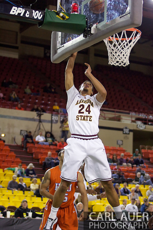 November 25th, 2010:  Anchorage, Alaska - Arizona States Trent Lockett (24) heads to the rim for a easy lay up in the Sun Devils 73-55 win over Houston Baptist in their first round game of the Great Alaska Shootout.
