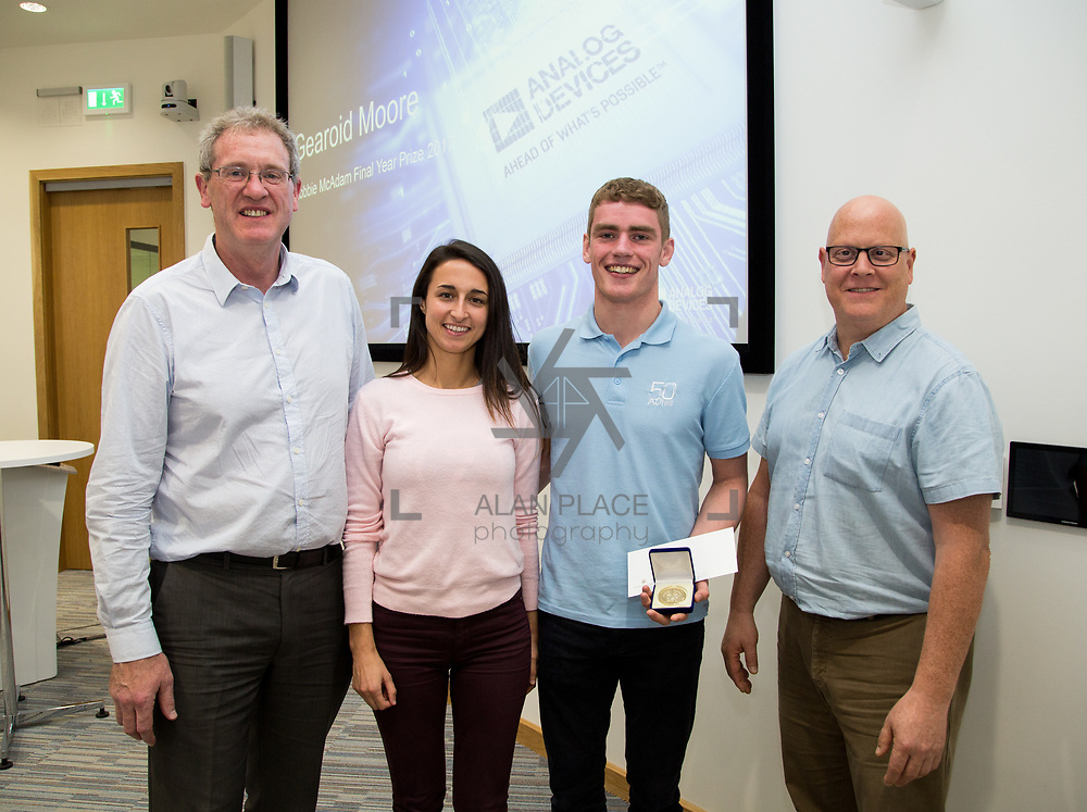 31.05.2017      <br /> University of Limerick Analog Devices Robbie McAdam Awards.<br /> Robbie McAdam Award recipient and Robbie McAdam Medal recipient, Gearoid Moore. Picture: Alan Place.