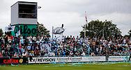 FODBOLD: Tilskuerne hilser spillerne velkommen til  kampen i ALKA Superligaen mellem FC Helsingør og Randers FC den 26. august 2017 på Helsingør Stadion. Foto: Claus Birch