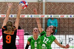 26-10-2019 NED: Dros Alterno - Set Up 65, Apeldoorn<br /> Round 4 of Eredivisie volleyball - Romy Hietbrink #12 of Alterno