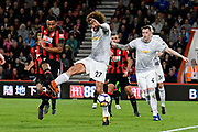 Marouane Fellaini (27) of Manchester United is challenged by Callum Wilson (13) of AFC Bournemouth during the Premier League match between Bournemouth and Manchester United at the Vitality Stadium, Bournemouth, England on 18 April 2018. Picture by Graham Hunt.