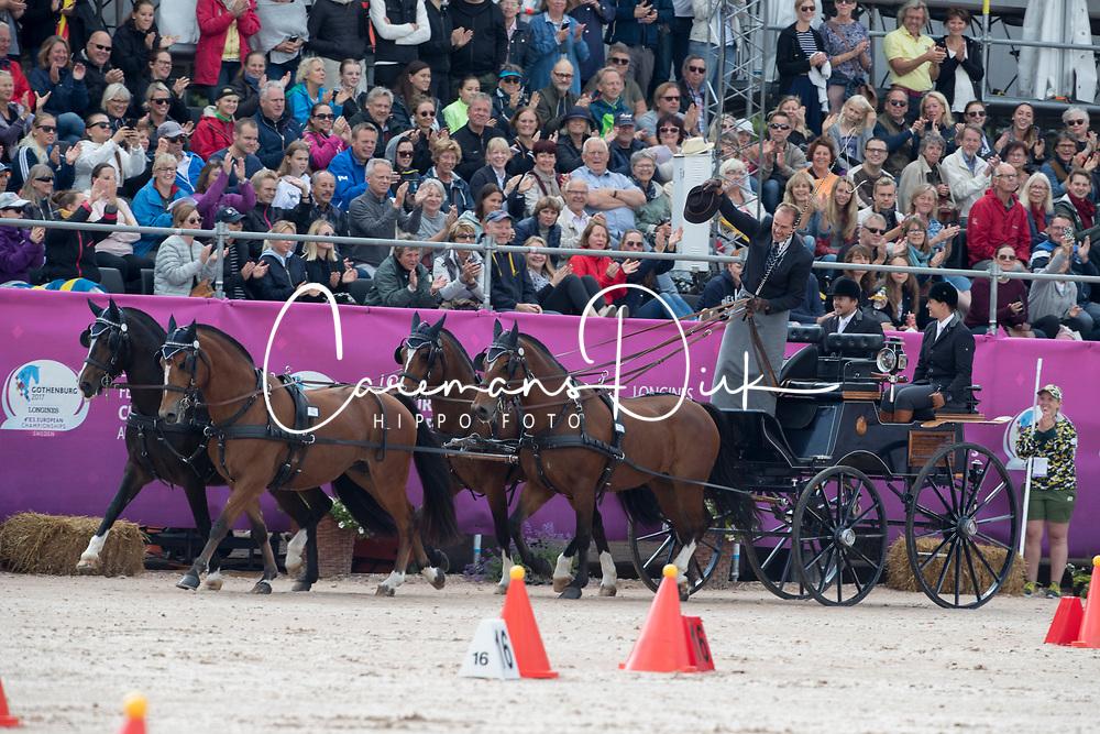 Voutaz J&eacute;rome, SUI, Belle du Peupe CH, Eva III CH, Flore CH, Folie des Moulins CH, Leon<br /> FEI European Driving Championships - Goteborg 2017 <br /> &copy; Hippo Foto - Dirk Caremans