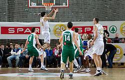 Giorgi Shermadini of Olimpija during basketball match between KK Union Olimpija and KK Krka in 3rd Quarterfinal of Spar Slovenian Cup, on February 11, 2011 in Sportna dvorana Poden, Skofja Loka, Slovenia. (Photo By Vid Ponikvar / Sportida.com)