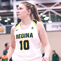 4th year forward, Alexi Rowden (10) of the Regina Cougars during the Women's Basketball Home Game on Fri Nov 02 at Centre for Kinesiology,Health and Sport. Credit: Arthur Ward/Arthur Images