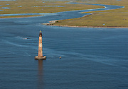 Aerial photograph of Morris Island Lighthouse.