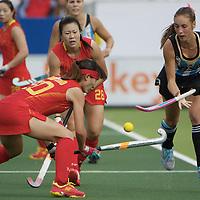 DEN HAAG - Rabobank Hockey World Cup<br /> 30 Argentina - China<br /> Foto: Florencia Habif (blue).<br /> COPYRIGHT FRANK UIJLENBROEK FFU PRESS AGENCY
