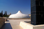 Jerusalem, Israel, The Shrine of the Book at the Israel Museum, focuses on the Dead Sea Scrolls and other ancient scriptures