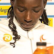 17-10-2019: Atletiek: Persconferentie TCS Amsterdam Marathon: Amsterdam Linet Masai( KEN)