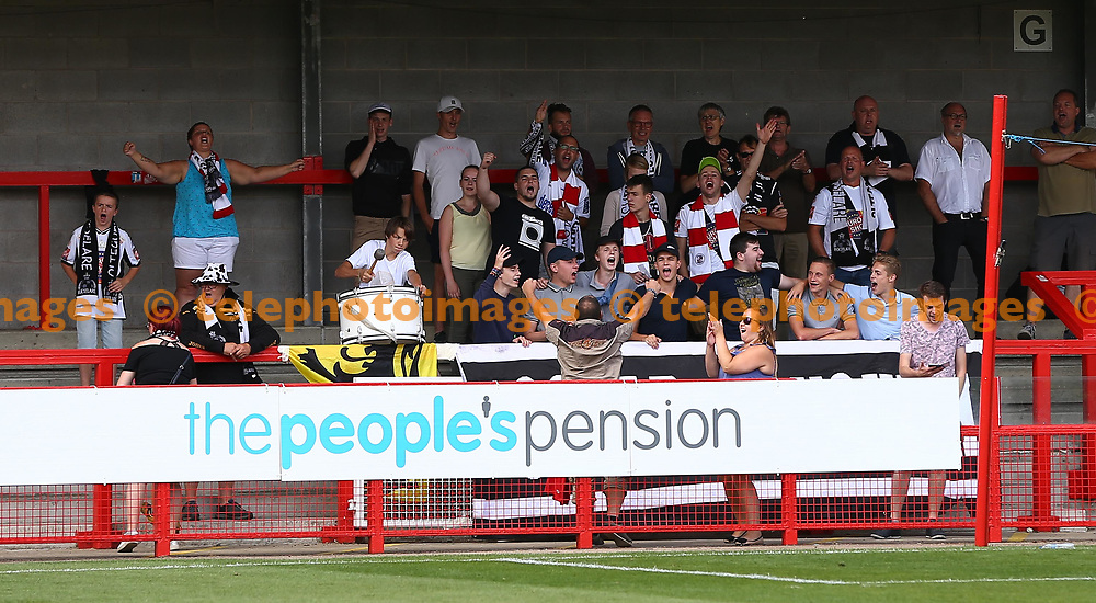 KSV Roeselare fans during the pre season friendly between Crawley Town and KSV Roeselare at The Broadfield Stadium, Crawley , UK. 28 July 2018.