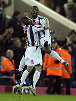 Photo: Rich Eaton.<br /> <br /> West Bromwich Albion v Cardiff City. Coca Cola Championship. 20/02/2007. Nathan Ellington, facing, celebrates scoring the first goal of the game for West Brom