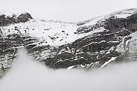Mountain detail and clouds, Malbun, Liechtenstein