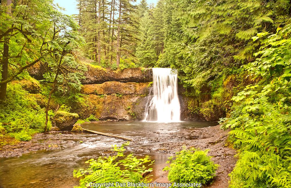 Upper North Falls in Full Flow in Oregon