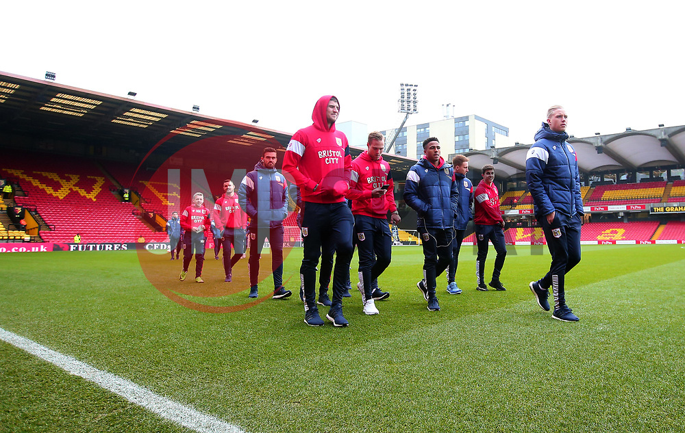 Bristol City arrive at Vicarage Road for the FA Cup tie against Watford - Mandatory by-line: Robbie Stephenson/JMP - 06/01/2018 - FOOTBALL - Vicarage Road - Watford, England - Watford v Bristol City - Emirates FA Cup third round proper