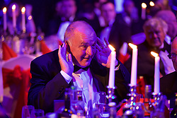 CARDIFF, WALES - Monday, October 5, 2015: FAW's Trefor Lloyd-Hughes during the FAW Awards Dinner at Cardiff City Hall. (Pic by David Rawcliffe/Propaganda)