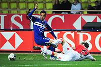 FOOTBALL - FRENCH CHAMPIONSHIP 2011/2012 - L2 - AS MONACO  v SC BASTIA - 13/02/2012 - PHOTO OLIVIER ANRIGO / DPPI - YASSIN EL AZZOUZI (BAS) / GARY KAGELMACHER (ASM)