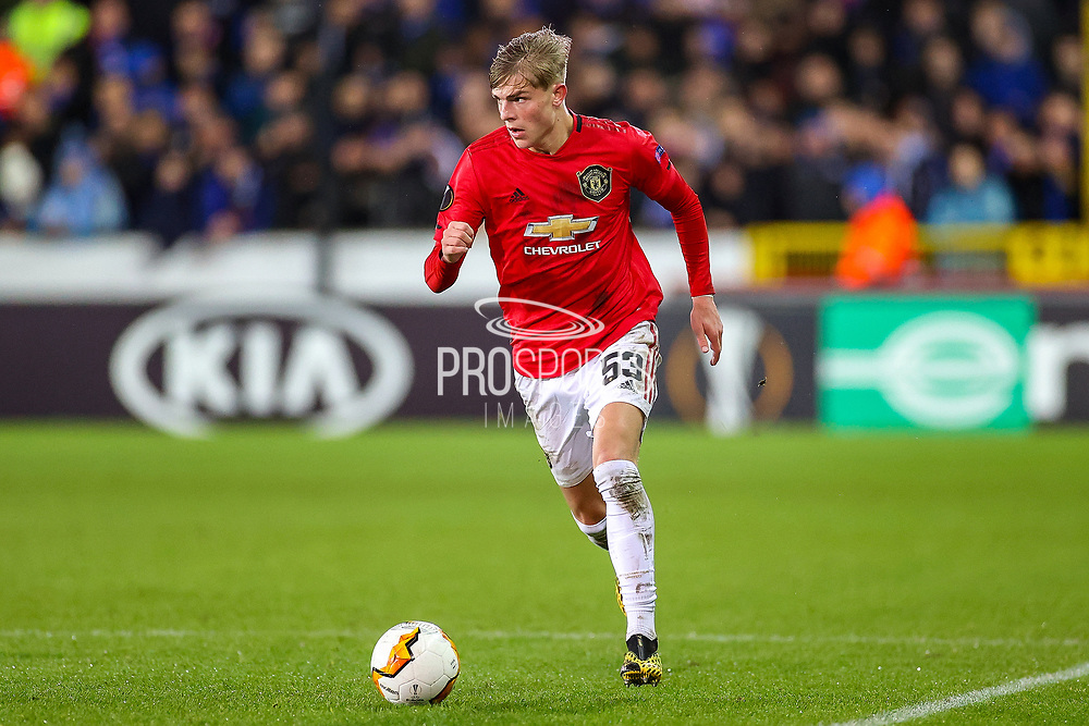 Manchester United defender Brandon Williams (53) during the Europa League match between Club Brugge and Manchester United at Jan Breydel Stadion, Brugge, Belguim on 20 February 2020.