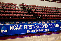 March 19, 2010; Stanford, CA, USA;  NCAA banner before the first and second rounds of the 2010 NCAA Womens Division I Championship at Maples Pavilion.