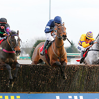 Alasi and D Elsworth winning the 3.25 race