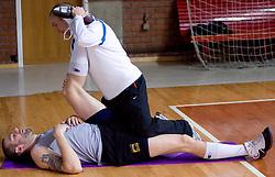 Ernest Novak at practice of KK Slovan basketball team, on February 3, 2010 in Arena Kodeljevo, Ljubljana, Slovenia.  (Photo by Vid Ponikvar / Sportida)