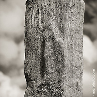 Callanish Standing Stones located on The Isle of Lewis in the Outer Hebridies, Scotland.  Single standing stone portrait.