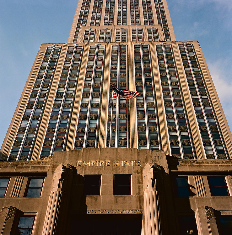Facade of Empire State Building, New York, US
