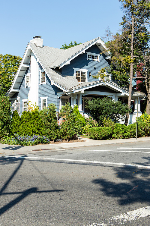 A fine example of a shingle style bungalow at 292 E. 16th St., between Dorchester Rd and Ditmas Avenue, built in 1908-1909 by Arlington Isham.