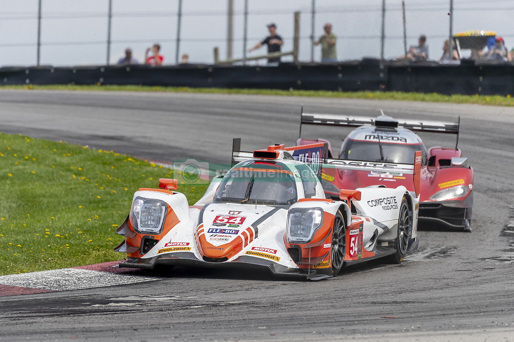 May 6, 2018 - Lexington, Ohio, United States of America - The CORE autosport Composite Resources ORECA LMP2 car races through the keyhole turn during the the Acura Sports Car Challenge at Mid Ohio Sports Car Course in Lexington, Ohio. (Credit Image: © Walter G Arce Sr Asp Inc/ASP via ZUMA Wire)