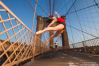 Dance As Art Brooklyn Bridge New York City with dancer Melanie Sanniola