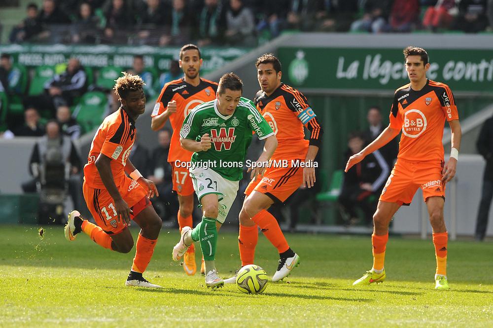 Romain HAMOUMA - 08.03.2015 - Saint Etienne / Lorient - 28eme journee de Ligue 1<br /> Photo : Jean Paul Thomas / Icon Sport