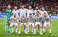 WM 2018, Portugal - Spanien FUSSBALL WM 2018 Vorrunde Gruppe B 15.06.2018 Portugal - Spanien Teamfoto Spanien, hintere Reihe von links: Torwart David De Gea, Sergio Ramos, Gerard Pique, Sergio Busquets, Diego Costa und Koke. Vordere Reihe von links: David Silva, Andres Iniesta, Nacho Monreal, Isco und Jordi Alba *** FIFA World Cup 2018 Preliminary Round Group B 15 06 2018 Portugal Spain Teamfoto Spain back row from left Goalkeeper David De Gea Sergio Ramos Gerard Pique Sergio Busquets Diego Costa and Koke Front row from left David Silva Andres Iniesta Nacho Monreal Isco and Jordi Alba PUBLICATIONxNOTxINxAUTxSUIxITA