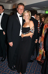 TV presenter MARIELLA FROSTRUP and her husband JASON McCUE at the 2004 Whitbread Book Awards held at The Brewery, Chiswell Street, London EC1 on 25th January 2005.<br />