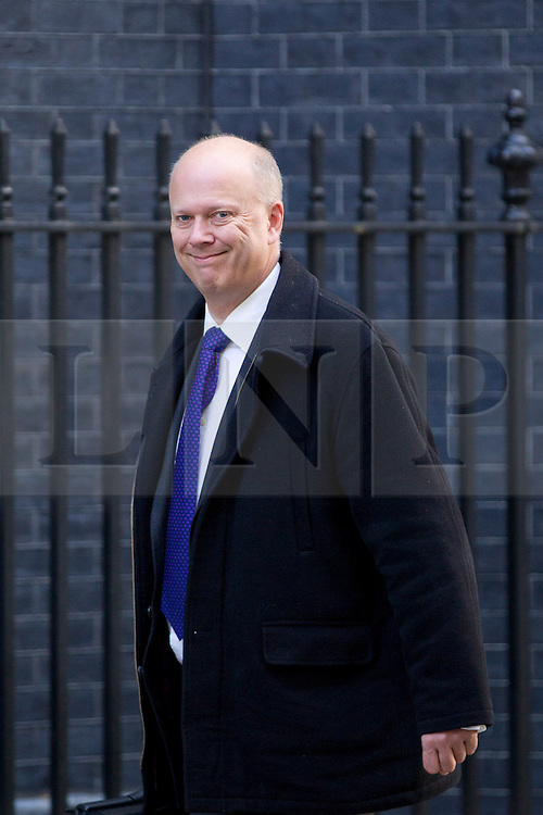 © Licensed to London News Pictures. 16/10/2012. LONDON, UK. Chris Grayling, the Justice Secretary, is seen on Downing Street in London for today's (16/10/2012) meeting of David Cameron's cabinet. Photo credit: Matt Cetti-Roberts/LNP