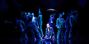 Guys and Dolls<br /> by Damon Runyon / Frank Loesser<br /> at The Savoy Theatre, London, Great Britain <br /> press photocall<br /> 4th January 2016 <br /> <br /> Jamie Parker as Sky Masterson and <br /> ensemble<br /> <br /> <br /> Photograph by Elliott Franks <br /> Image licensed to Elliott Franks Photography Services