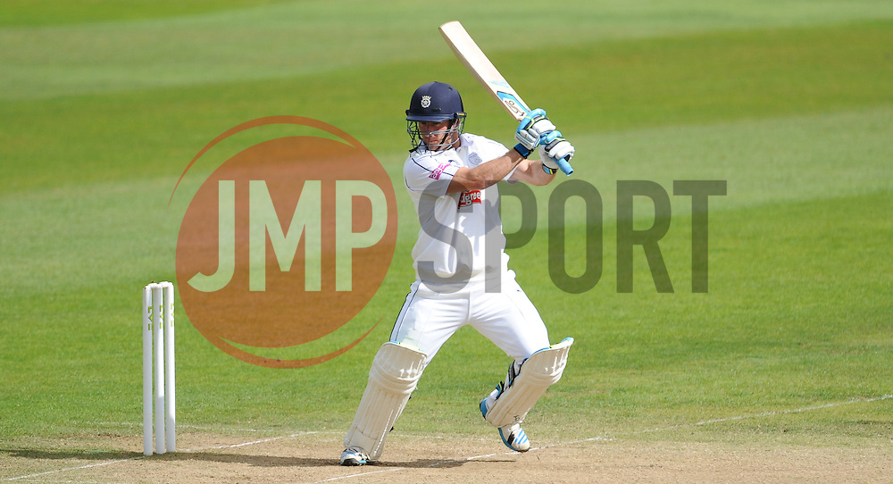 Hampshire's Will Smith hits toward's the boundary.  - Mandatory byline: Alex Davidson/JMP - 07966386802 - 12/09/2015 - CRICKET - The County Ground -Taunton,England - Somerset CCC v Hampshire CCC - Day 4