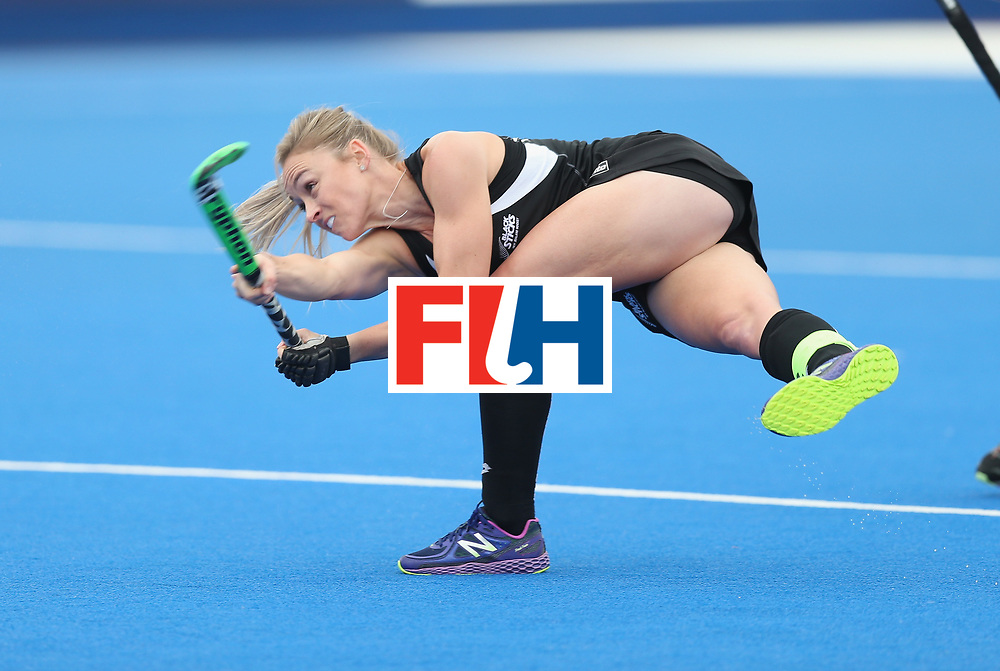LONDON, ENGLAND - JUNE 19: Anita McLaren of New Zealand scores their first goal during the FIH Women's Hockey Champions Trophy match between Australia and Britain at New Zealand at Queen Elizabeth Olympic Park on June 19, 2016 in London, England.  (Photo by Alex Morton/Getty Images)