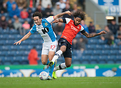 Lewis Travis of Blackburn Rovers (L) and Izzy Brown of Luton Town in action - Mandatory by-line: Jack Phillips/JMP - 28/09/2019 - FOOTBALL - Ewood Park - Blackburn, England - Blackburn Rovers v Luton Town - English Football League Championship
