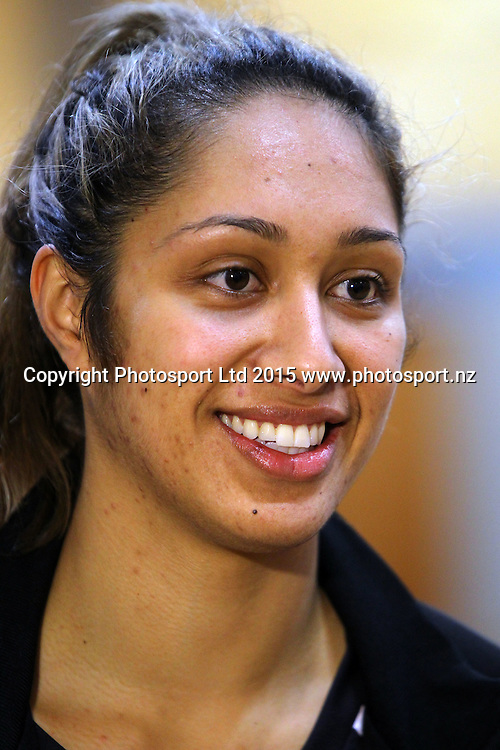 Phoenix Karaka, Silver Ferns, New Zealand netball team training session, AUT Sport and Fitness centre, Auckland. 1 July 2015. Copyright Photo: William Booth / www.photosport.nz