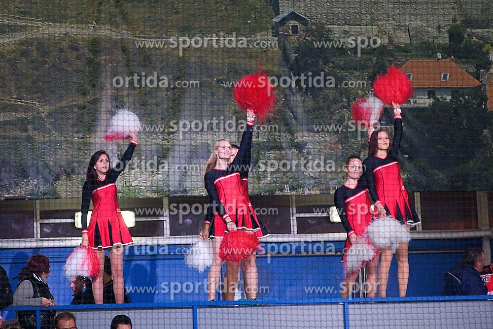 26.10.2014, Hostan Arena, Znojmo, CZE, EBEL, HC Orli Znojmo vs HDD Telemach Olimpija Ljubljana, 14. Runde, im Bild v.l. // during the Erste Bank Icehockey League 14th round match between HC Orli Znojmo and HDD Telemach Olimpija Ljubljana at the Hostan Arena in Znojmo, Czech Republic on 2014/10/26. EXPA Pictures © 2014, PhotoCredit: EXPA/ Rostislav Pfeffer