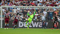 Football - 2019 / 2020 Premier League - West Ham United vs. Norwich <br /> <br /> Tim Krul (Norwich City) pulls off a reaction save from Manuel Lanzini (West Ham United) at the London Stadium<br /> <br /> COLORSPORT/DANIEL BEARHAM