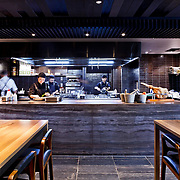 The kitchen at Ascua restaurant located at the Intercontinental Hotel, Perth, Western Australia