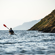 Kayaking on Okanagan Lake with Hoodoo Adventures out of Naramata, British Columbia