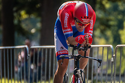 DUMOULIN Tom from the Netherlands of Team Giant - Alpecin during his race to 14th, stage 2 (ITT) of the 2016 Eneco Tour at Breda, Noord-Brabant, The Netherlands, 20 September 2016. <br /> Photo by Pim Nijland / PelotonPhotos.com | All photos usage must carry mandatory copyright credit (Peloton Photos | Pim Nijland)